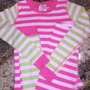 Hanna Andersson Organic Pink Pajamas Girls 140/10